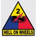 Army 2nd Armored Division Hell On Wheels Decal