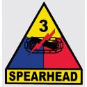 Army 3rd Armored Division Spearhead Decal