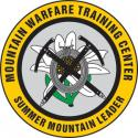 MOUNTAIN WARFARE SUMMER MOUNTAIN LEADER DECAL