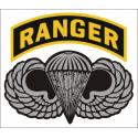 Army Ranger Arc with Para Wing Decal