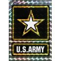 US Army with Star Logo Decal