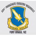 Army 504th Parachute Infantry Regiment Ft Bragg NC Decal