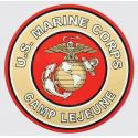 US Marine Corps Camp Lejeune with Eagle Globe and Anchor Logo Decal