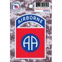 82nd Airborne Division 4 Color Process Decall