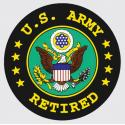 US Army Retired with Crest Logo Decal