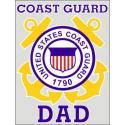 US Coast Guard Dad Decal