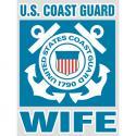 Coast Guard Wife Bold Type Decal