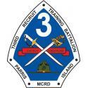 USMC 3rd Recruit Training Battalion Parris Island MCRD Decal