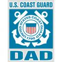 Coast Guard Dad Bold Type Decal