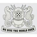 Navy Diver Helmet Silver Decal
