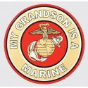 My Grandson is a Marine with Eagle Globe and Anchor Logo Decal