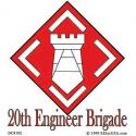 Army 20th Engineers Decal