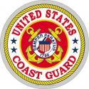 Large US Coast Guard Decal