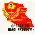 Army 320th Field Artillery Iraqi Freedom Airborne Decal
