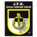 JFK Special Warfare Center Decal