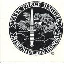 Special Forces Afghanistan CJSO Task Force Dagger Decal