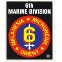 6th Marine Division  Decal
