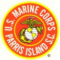 US Marines Parris Island, SC Decal