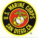 USMC San Diego, CA Decal
