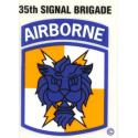 Army 35th Signal Airborne Decal