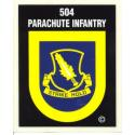 Army 504th Infantry Airborne Decal