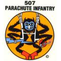 Army 507th Infantry (Spider) Airborne Decal