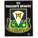 Army 511th Parachute Infantry Airborne Decal