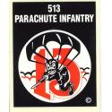 Army 513th Parachute Infantry Airborne Decal
