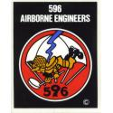 Army 596th Parachute Engineers Airborne Decal
