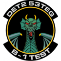 Detachment 2 53rd Test & Evaluation Group B-1  Decal