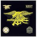 Navy SEAL Pin and Patch Gift Set.