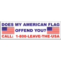 Does My Flag Offend You?  Decal
