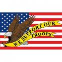 We Support our Troops USA  Flag