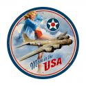 USA B17  Vintage Metal Sign