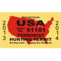 Terrorist Hunting License Decal