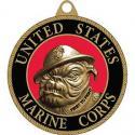 USMC Bull Dog All Metal Key Ring