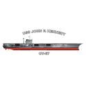 John F. Kennedy Aircraft Carrier USS John F Kennedy (CV-67)   Decal