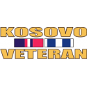 Kosovo Veteran Ribbon Decal