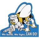 Seabees Die Cut Auto Magnet