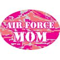 Air Force Mom Pink ABU Digital Oval Auto Magnet