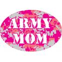 Mom Pink Digital ACU Pattern Oval Auto Magnet