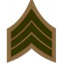 E-4 SGT Sergeant Pre-1959 (Khaki)  Decal