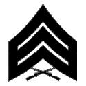 E-5 SGT Sergeant (Black) Decal
