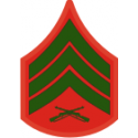 E-5 SGT Sergeant (Green) Decal