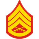 E-6 SSGT Staff Sergeant (Gold) Decal