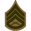 E-6 SSGT Staff Sergeant (Khaki) Decal