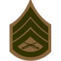 E-6 SSGT Staff Sergeant (Khaki) Decal