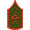 E-9 SGTMAJ Sergeant Major (Green) Decal