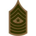 E-9 SGTMAJ Sergeant Major (Khaki) Decal