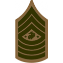 E-9 SGTMAJMC Sergeant Major Marine Corps (Khaki) Decal